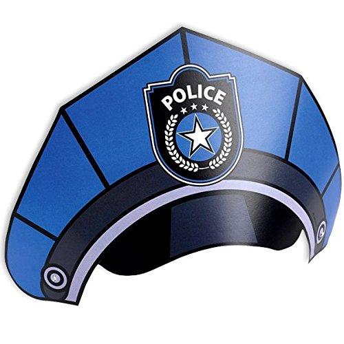 8 Partyhütchen als POLIZEI-HÜTE für Party und Geburtstag // AMSCAN // Kindergeburtstag Deko Verkleidung Mottoparty Polizisten Police