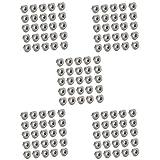 100pz Dadi Flangiati Spinlock Serrati In Acciaio Inox M3 / M5/ M6/ M8