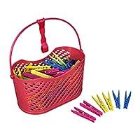 Bürstenmann 382 Clothes Pegs Basket, Multi-Colour, 100-Piece
