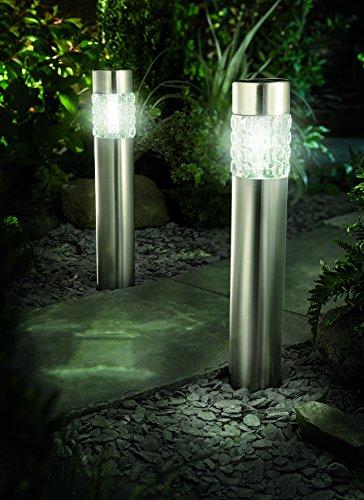 LED Lampione in acciaio inox (Confezione da 2)