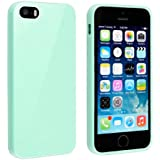 Bingsale TPU Jelly snap on Gel Soft Hülle Case Tasche schutzhülle für Apple iPhone SE 5S 5 in turquoise(iPhone 5S, turquoise)
