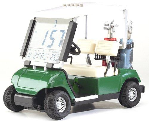 Tischuhr Golfcart, digitale Golfuhr