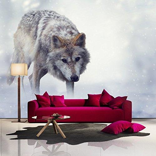 loup-gris-en-hunts-neige-en-hiver-animale-murale-nature-photo-wallpaper-disponible-en-8-tailles-xx-l