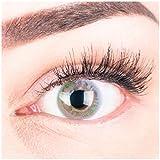 """Sehr stark deckende und natürliche graue Kontaktlinsen SILIKON COMFORT NEUHEIT farbig """"Paradise Gray"""" + Behälter von GLAMLENS - 1 Paar (2 Stück) - DIA 14.20 - ohne Stärke 0.00 Dioptrien"""
