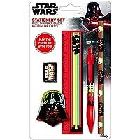 Juego de papelería de Star Wars Nostalgia, lápiz, borrador, regla, sacapuntas,