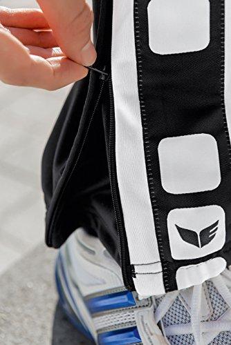 Erima, Pantaloni sportivi Uomo 5-Cubes Nero (Schwarz/Weiß)