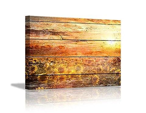 XIAOMEIXI Ausgestreckter und gerahmter Leinwanddruck Sonnenblume-Bilder Wand-Kunst für Hauptbüro-Dekorationen Wohnzimmer-Schlafzimmer
