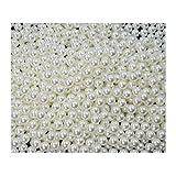Sepkina Mega Sparpack 10.000 Stück hochwertige nachgebildete lose Perlen Perle Dekoperlen Kunststoffperlen ohne Loch 8mm weiß (S-DPL-8mm-43-10000)
