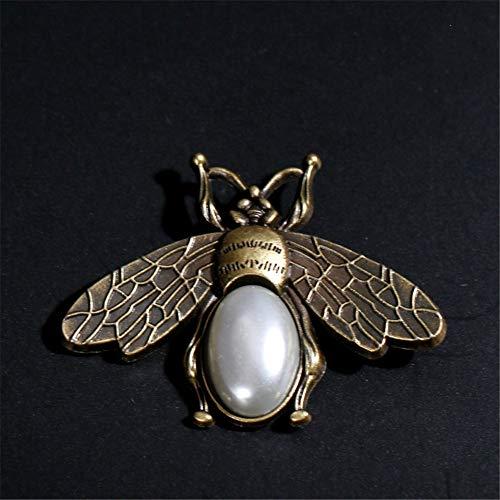 QZQWANAL Art Style Bronze Biene Brosche Pullover Mantel Kleidung Pin Zubehör -
