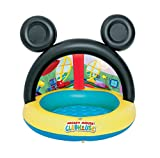Piscina Baby con copertura e fondo gonfiabile Mickey Mouse immagine