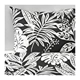 IKEA Duvet Cover and Pillowcase(s), Gray, White, Full/Queen (Double/Queen)