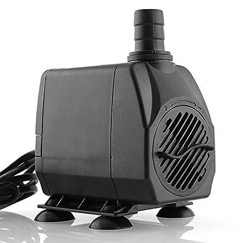 MVPower 3000L/H 60W Wasserpumpe Gartenpumpe Teichpumpe Filterpumpe Tauchpumpe Bachlaufpumpe Springbrunnen Pumpe