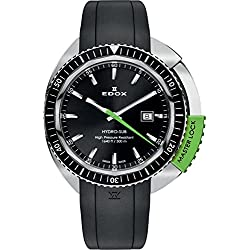 Unisex-reloj EDOX hidrografía SUB analógico de cuarzo de caucho 53200 3NVCA NIN