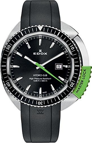EDOX Orologio Analogico Quarzo Unisex con Cinturino in Gomma 53200 3NVCA...