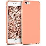 kwmobile Hülle für Apple iPhone 6 / 6S - TPU Silikon Backcover Case Handy Schutzhülle - Cover Koralle matt