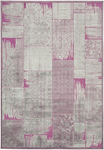 Safavieh Kingstown gewebter Teppich, PAR100-880, Lila / Fuchisa, 160 X 228  cm