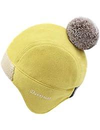 Amazon.es  gorro orejeras - Amarillo   Accesorios   Mujer  Ropa b3409c46c40
