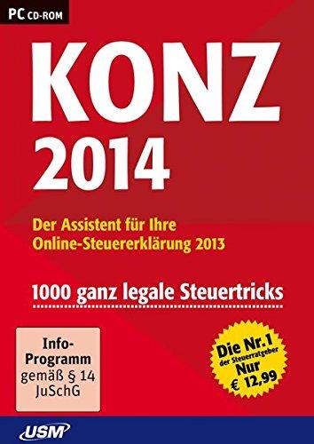 Preisvergleich Produktbild Konz Steuer 2014 - Der Assistent für Ihre Online-Steuererklärung 2013