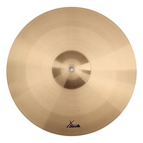 """XDrum 18"""" Eco Becken Crash/Ride (Drum Cymbals, Musikalisches, harmonisches und dennoch durchsetzungsfähiges Beckenset, Im Klang mitteldunkel, voll)"""