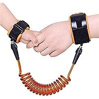 Zhuhaimei,Bebé niño Anti - Perdió la muñeca de Seguridad Referencia arnes Correa Cinturon Band Pulsera Correa de Cuerda, Caminando de la Mano para los niños(Color:Orange)