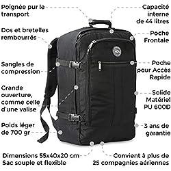 Cabin Max - Sac à dos et bagage à mains pour cabine- capacité brute de 44l