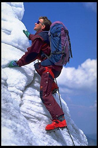 599047 European Freestyle Ski Champion Sewald Ice climbing A4 Photo Poster Print 10x8 (Freestyle-ski-poster)