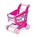 VINSANI Pink Kinder Kids Pretend Play Warenkorb und Lebensmittels Tablettwagen