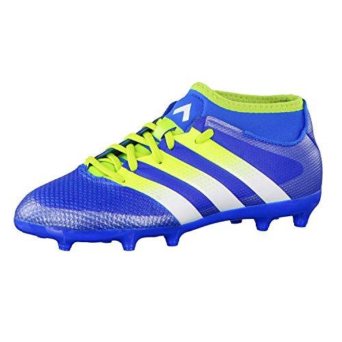 adidas Ace 16.3 Primemesh Fg/Ag J, Chaussures de Football Mixte Bébé, Vert, Talla Unica Azul / Verde / Blanco (Azuimp / Seliso / Ftwbla)