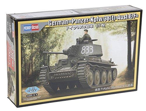 Hobby Boss 80136 - Modellbausatz German Panzer Kpfw.38(t) AUSF.E/F, grau