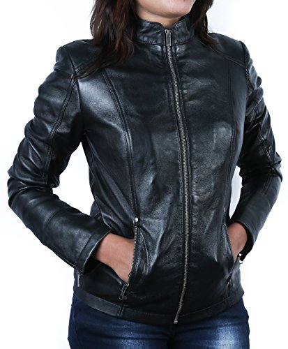 *Urban Leather Fashion Lederjacke – Rt01, Schwarz, Größe 50, 5XL*
