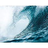 Premium Fototapete Welle 352 x 250 cm - 8 Bahnen- Vliestapete -Modern jedes Zimmer - Wand Dekoration - 3D Tapete aus Vlies 9069811a