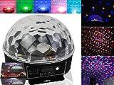 Disco DJ Discokugel Lasereffekt Projektor Kristall Magic Ball Disco Kugel Party Bühne Lichteffekt Beleuchtung für Weihnachtsparty Disco Party Klub 6 Farben