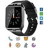 Smartwatch CoolFoxx DZ09 Bluetooth 4,0 Mutifunktionale Armbanduhr, unterstützt Sim & TF-Karte, mit Kamera Schrittzähler Anti-Lost Tracker Stoppuhr Nachricht Kalender für Android phones(schwarz)
