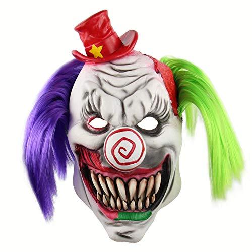 NSMZ Halloween Maske Horror Roter Hut Clown Kopfschmuck Halloween Gruselige Haus Zimmer Flucht Kleid Up Live Lustige Maske Dress Up Kostüm - Haus Aus Up Kostüm