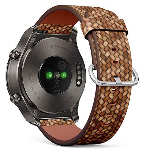 Classic Wicker (Art-Strap Kompatibel mit Huawei Watch 2 Classic - Leder-Armband Uhrenarmband Ersatzarmbänder mit Schnellverschluss (Wicker Rattan))