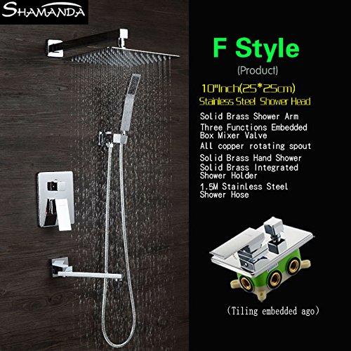 Luxurious shower Envío gratuito de latón grifo mezclador baño empotrables en la...