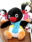 "Pingu character Penguin stuffed animal plush black 10""(25cm)"