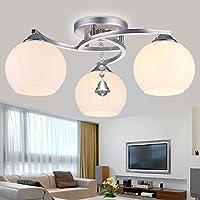 KHSKX Lampada da soffitto,lampada da soffitto led illumina la stanza da letto master lampada piccolo soggiorno lampada è ristorante moderno e minimalista, tre caldo 500/600*220/280mm , testa 3 - Tenda Acrilica