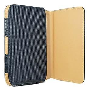 TOTTA Faux Leather Belt Pouch For Celkon A225-BLACK