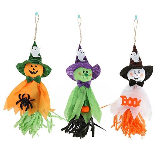 Tinksky 3 Pcs Halloween Ghost Garland Decoration Prop pour Bar Halloween Party Halloween cadeau (Orange + Blanc + Vert) 0191579512060