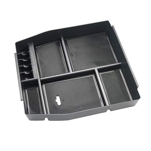 Ecloud Shop® Autositz-Lückenfüller mit Münzsammler Becherhalter, Aufbewahrungsbox, Aufbewahrungsbox für Ford F150 2015 2016 2017 2018 2019 (Schwarz, 1 Stück)