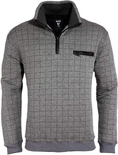 Hajo - Herren Sweatshirt ( Troyer / Pullover ) grau melange Stay-Fresh Qualität* Gr. 58 / 3XL