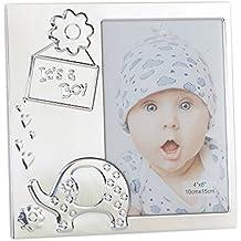 Mopec Marco Its a Boy para Foto, Aluminio, Plateado, 17x17x1 cm
