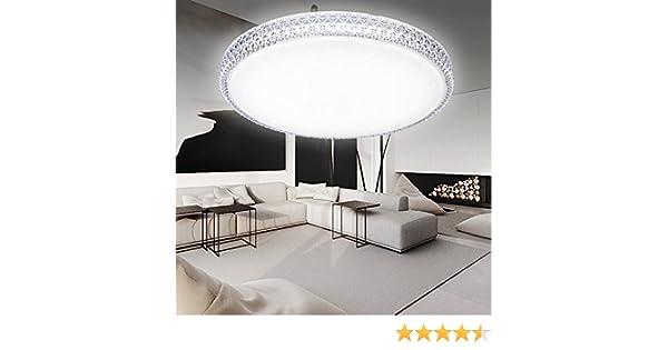 Plafoniere A Led Per Soggiorno : Hg® plafoniera a led rotonda in cristallo per soggiorno