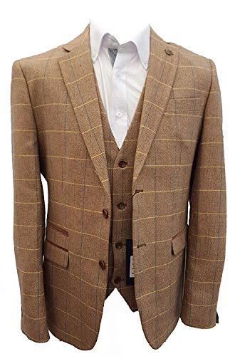 variété de dessins et de couleurs les ventes en gros très loué Hommes Marc Darcy Vintage à carreaux tweed Blazer - DX7 chêne