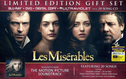 Les Miserables Limited Edition Gift Set with Blu-Ray+DVD+Digital Copy+Ultraviolet Plus 20-Song CD Soundtrack