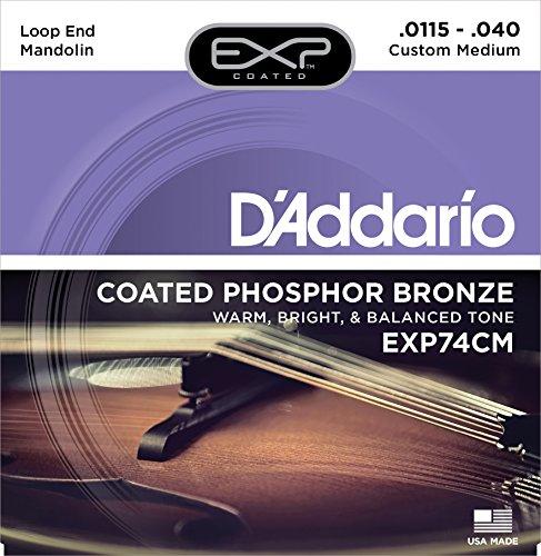 Daddario EXP74CM Exp Coated Phosphor Bronze Mandoline Saitensatz, Loop End, custom medium Loop End-e-saite