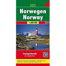 Norwegen, Autokarte 1:600.000, freytag & berndt Auto+Freizeitkarten