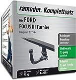 Rameder Komplettsatz, Anhängerkupplung abnehmbar + 13pol Elektrik für Ford Focus III Turnier (136209-09157-1)