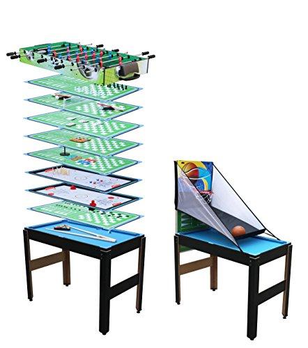 Toyrex IPTRMST01 14-in-1-Multifunktionsspieltisch, Bunt, L 124 x B 61 x H 90 cm